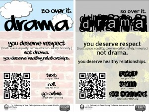 Posters 300x226 Every February we recognize Teen Dating Violence Awareness Month, or TDVAM.